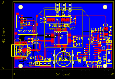 PCB Artwork for the GPS Logger